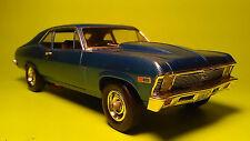 1969 Nova ss 1/25 built model car kit metalflake blue 350 motor cowl hood