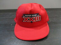 VINTAGE San Francisco 49ers Hat Cap Red Snap Back Super Bowl XXIII Football 90s