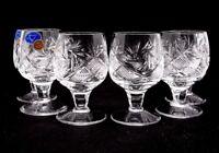 SET OF 6 x 1.7 oz. Neman Crystal Russian Shot Glass, Stemmed Vintage Glassware