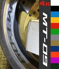 4x Yamaha MT-09 Wheel Rim Sticker Decal Motorcycle Vinyl MT09 MT 09 900 Tracer