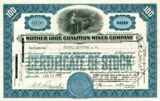 Mother Lode Coalition Mines Company - Stock Certificate (Brown)