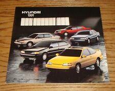 Original 1991 Hyundai Full Line Sales Brochure 91 Sonata Scoupe Excel