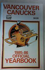VINTAGE NHL 1985-86 VANCOUVER CANUCKS MEDIA PRESS GUIDE RARE HOCKEY