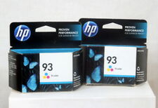 Genuine HP 93 Tri Color Ink Cartridges Lot of 2 Sealed Expired 2014