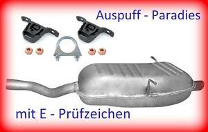 Endschalldämpfer für BMW 3er E46 316i & 318i 1.6, 1.8 & 2.0 (115 & 143PS) +Kit