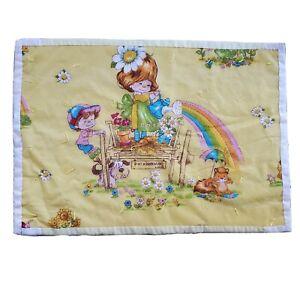 Vintage Rainbow Brite Blanket Quilt Throw Handmade Bedding Wall Decor Tapestry