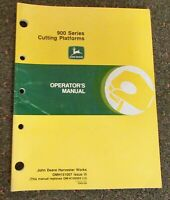 John Deere 900F & 900R Series Cutting Platforms Operator's Manual (OMH151007)