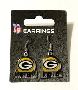 Green Bay Packers Bar Style Dangle Earrings - New