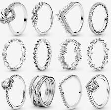 ALE S925 Genuine Silver Pandora Sparkling Ring & With Gift Box