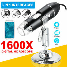 More details for 1600x usb zoom 8 led digital microscope magnifier endoscope camera for phone uk