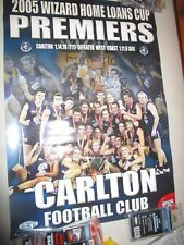 2005 AFL Night Premiership Poster signed by captain Anthony Koutoufides (#2101)