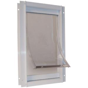 Pet Door Flap Super Large Deluxe Aluminum Frame Safe Dog Doors 15X20 Inch White