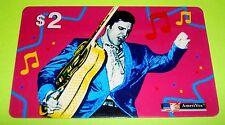 Really Cool 1957 Elvis on Tour - ELVIS PRESLEY $2 AmeriVox Phone Card from 1993