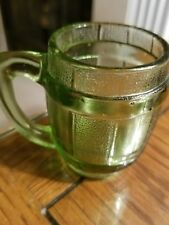 VINTAGE  GREEN SHOT GLASS/TOOTHPICK HOLDER WHISKY BARREL