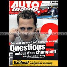 AUTO HEBDO N°1748 MICHAEL SCHUMACHER FERRARI 599 GTO FFSA BERTRAND BAGUETTE 2010