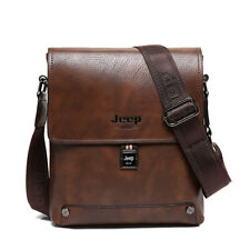 Man Business Briefcase Man's Cow Split Leather Messenger Shoulder Bag Male Totes