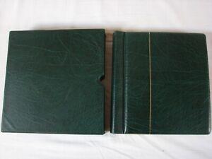 reliure + étui LEUCHTTURM LUXUS DL verte France  + feuilles 1985 à 1998