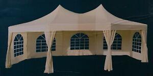 Zelt Festzelt Partyzel Professional Milano achteckig, beige, 6,8 x 5 m, Neu