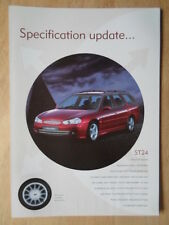 FORD MONDEO ST24 & GHIA X 1997 UK Mkt Specification Update sales brochure