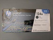 GENUINE HP LaserJet  124A Black Toner Dual Pack Q6000AD FACTORY SEALED