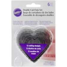 Wilton Nesting Fondant Double COOKIE CUTTERS~HEART Set of 6 Pastry Cutter Hearts