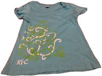 RAINFOREST CAFE RFC Women's Blue T-Shirt Size Large