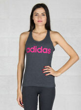 Adidas Ess Li SLI Tank Canottiera sportiva Donna Grigio Dark Grey Heather/real
