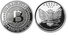 BITCOIN 1 OZ .999 SILVER PROOF BITCOIN COMMEMORATIVE COIN ANONYMOUS MINT OWL COA