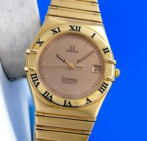 Men's Omega Constellation Chronometer 18K SOLID GOLD Watch - Gold Dial