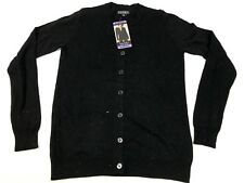 Nicole Miller Ladies' Fairisle Cardigan - Black Size S