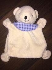 Baby Fehn Club C&A Schmusetuch Kuscheltuch Schnuffeltuch Teddybär Blau Beige