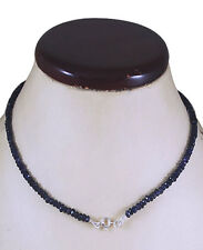 NATURAL IOLITE NECKLACE STERLING SILVER CLASP 16""
