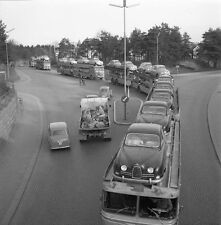 1960 Saab car carriers caravan of 5 double trucks  8 x 8 Photograph