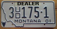 Montana 2001 YELLOWSTONE COUNTY USED CAR DEALER License Plate # 1 24-5
