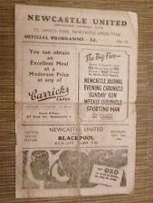1946/47 Central League  NEWCASTLE UNITED v BLACKPOOL - 16th November