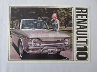 1966 1967 Renault 10 Sales Brochure Catalog Vintage Advertising
