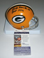 PACKERS Billy Howton signed mini helmet w/ PHOF 1974 JSA COA AUTO Autograph