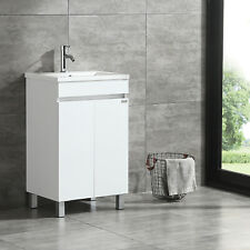 "20"" Modern Design Bathroom Vanity Cabinet with Undermount Resin Sink w/Faucet"