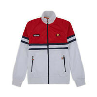 Felpa track top uomo con zip ELLESSE Art.7920140100 WHITE List.85€ P/E 2019