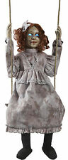 HALLOWEEN ANIMATED SWINGING DECREPIT DOLL GIRL   PROP DECORATION HAUNTED HOUSE