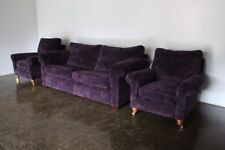 "Elegant Pristine Duresta ""Woburn"" Sofa and 2 ""Loafer"" Armchair Suite in Deep ..."