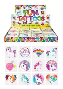 Unicorn Temporary Tattoos Kids Christmas Party Bag Filler Pack x 96