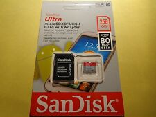 SanDisk Ultra 256GB Class 10 Micro SD XC UHS-I Memory Card with Adapter