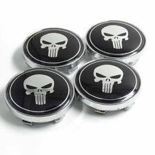 4pcs 60mm Skull Punisher Car Wheel Centre Hub Caps Badge Emblem for Ford Toyota