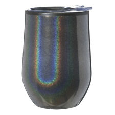 Stemless Wine Tumbler Coffee Travel Mug Glass Cup w/ Lid