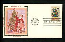 US FDC #1508 Colorano 1973 Washington DC Christmas Needlepoint Tree