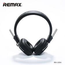 Headphone Stereo Earphone with Mic Headset RM-100H for iPhone iPod iPad Black