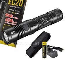 Nitecore EC20 960 Lumens Compact LED Flashlight w/ Recharge Kit & Bonus Holster