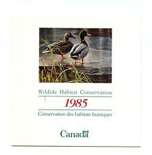 Canada Wildlife Conservation Duck Stamp FWH1 1985 Complete Bklt J311