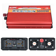 1x 3000W Auto SUV Power Inverter Electronic Charger Converter+ 2x Battery Cables